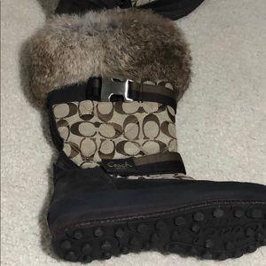 Coach Marietta Winter Boots size 8.5